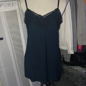 GORGEOUS NAVY BLUE SILK TOP/DRESS